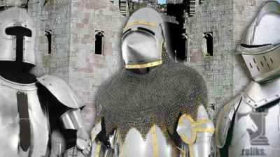 Medieval suits of armor from chain mail, Roman lorica to