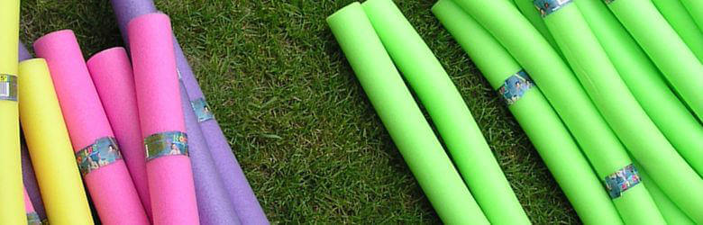 pool noodles cutting