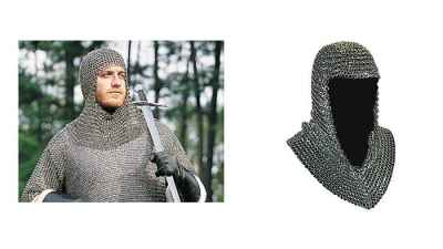 Butted Steel Chainmail Coif
