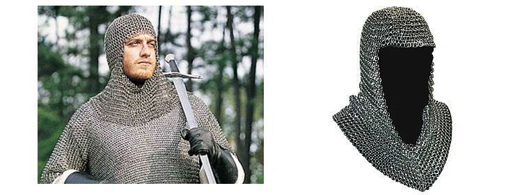 Butted Steel Chainmail Coif - 300188 - Windlass Steelcrafts
