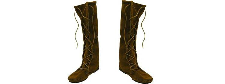 Suede Leather Medieval Boots