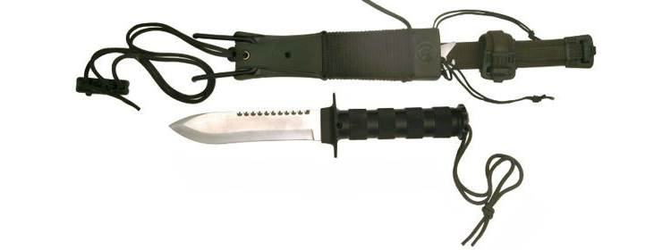 Survival Knife w/ Slingshot