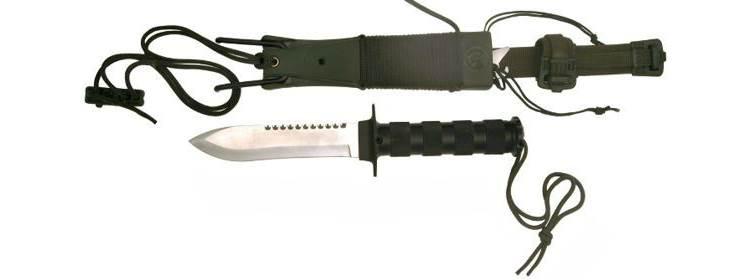 Survival Knife w/ Slingshot - HK56105 -