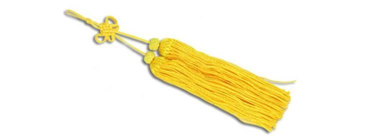 Yellow Tai Chi Sword Tassel