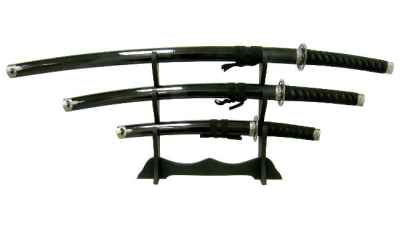 Black Japanese Sword Set