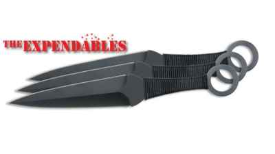 Expendables Kunai 3 Piece Thrower Set