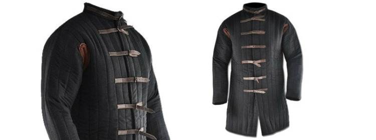 Black Gambeson - Buckle Closure - AB013 - Get Dressed For Battle