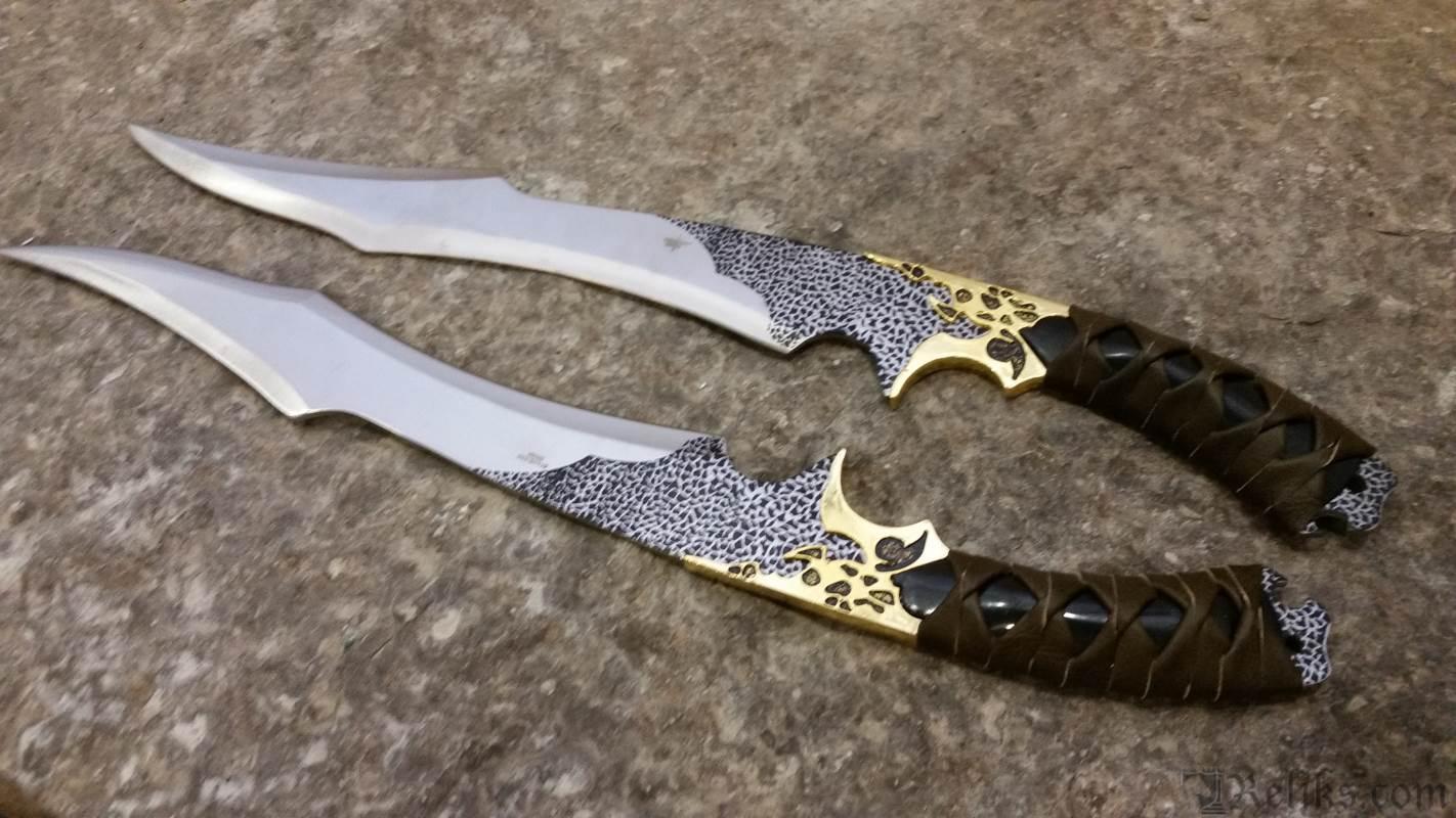 Elf Warrior Dual Swords Decorative Fantasy Swords At