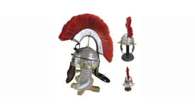 Roman Gallic Helmet w/ Red Crest
