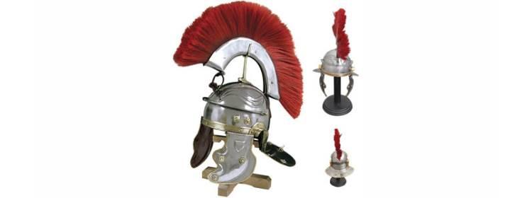 Roman Gallic Helmet w/ Red Crest