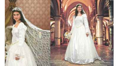 Renaissance Wedding Gown & Veil