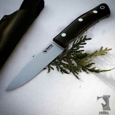No.10 Black Micarta Bushcraft Knife
