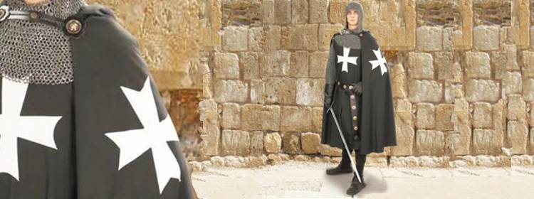 Hospitaller Hooded Cape