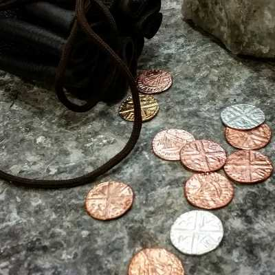 Medieval Viking Leather Coin Pouch