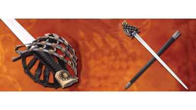 Mercenary Schiavona Half Basket Hilt Sword