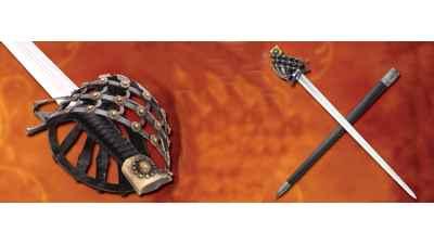 Mercenary Schiavona Half Basket Hilt Sword