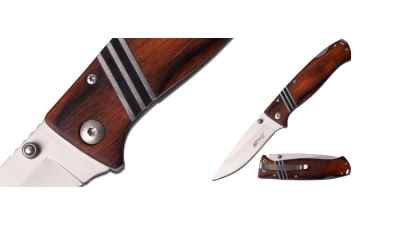 Brown Lockback Folding Knife