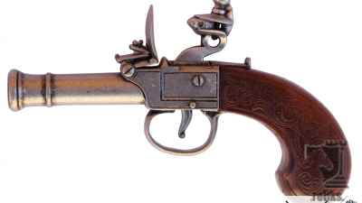 English Flintlock Pocket Pistol
