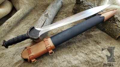 Celtic Leaf Blade Sword