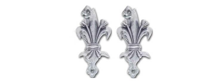 Silver Fleur De Lis Sword Hangers