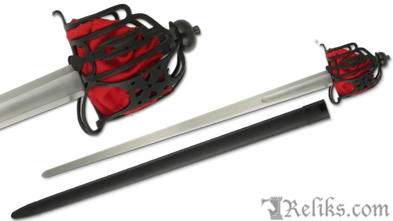Practical Basket-Hilt Broadsword